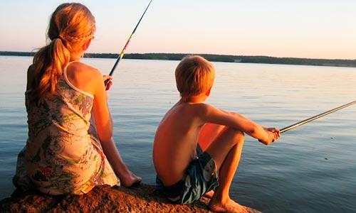 Fiska i Oppmannasjön - Fotograf Kerstin Söderlind